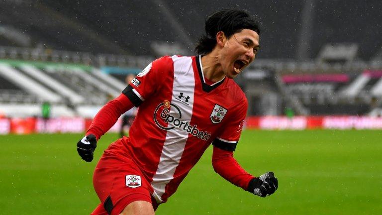 Такуми Минамино отбеляза втория си гол в три мача за Саутхемптън