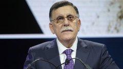 Ген. Халифа Хафтар отказа да подпише споразумението с премиера Файез Сераж (на снимката), въпреки посредничеството на Русия и Турция