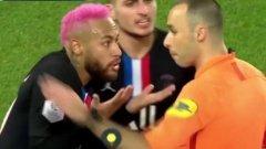 Неймар се държа доста невъзпитано към съдията още по време на мача