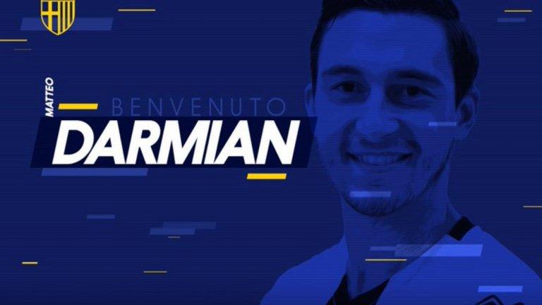 """Манчестър Юнайтед продаде Матео Дармиан на Парма срещу четири милиона евро. 29-годишният десен бек подписа договор за четири сезона с италианския тим. Дармиан изигра 92 мача за """"червените дяволи"""", след като се присъедини към тима през 2015-а от Торино"""