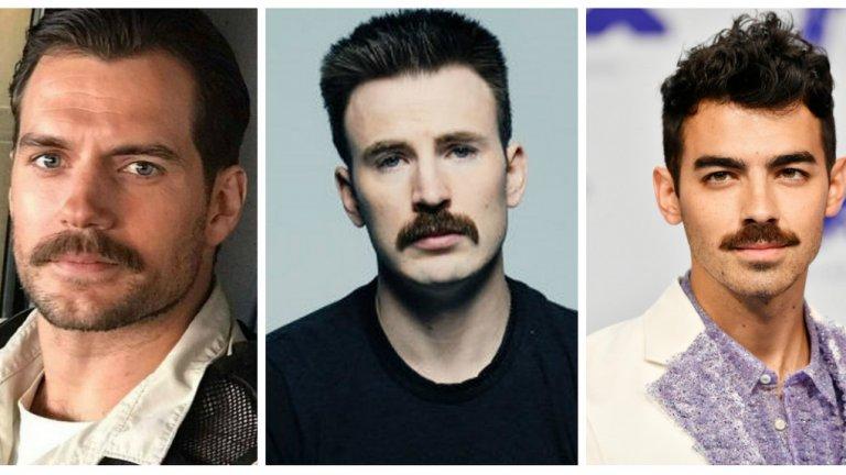 Окосмението над горната устна се връща на мода, а Холивуд е доказателство за това. Питайте Хенри Кавил, Крис Евънс и дори... Джо Джонас.