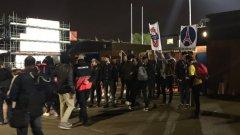 Арестуван бе само един, но стадионът в Кингсмедоу осъмна с графити и сериозни щети след набезите на парижките хулигани.