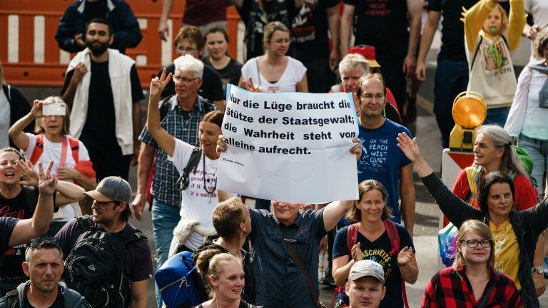 600 задържани в Германия заради протест срещу ковид мерките