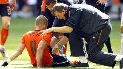Контузията на Ариен Робен не е тежка и той ще бъде на линия за световното първенство