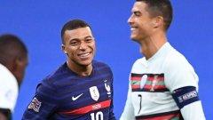 Мбапе бе много щастлив да е на терена до кумира си във футбола.