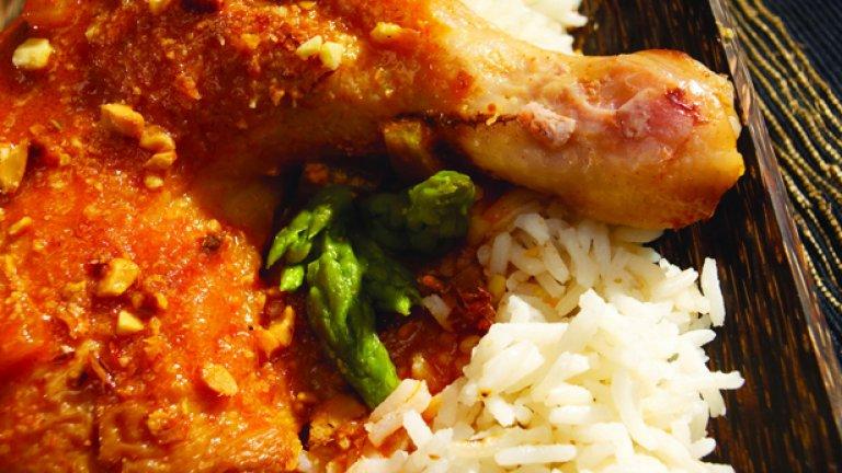 В соса към пилето по желание може да добавите един прясно изцеден грейпфрут