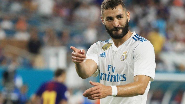 Нападател: Карим Бензема (Реал Мадрид)  Средна оценка: 7.8