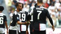 Голове на Миралем Пянич и Кристиано Роналдо донесоха победата на Ювентус