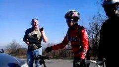 """Пред колоездачите шофьорът е решил да се """"повиши"""" в прокурор"""