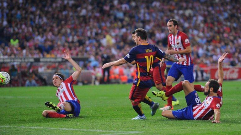 """Атлетико и Барселона са се срещали общо 109 пъти във всички състезания. Каталунците имат 63 победи, 19 успеха имат """"дюшекчиите"""", равенствата са 27."""
