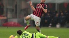 Пьонтек се разписа в трети пореден мач за Милан.
