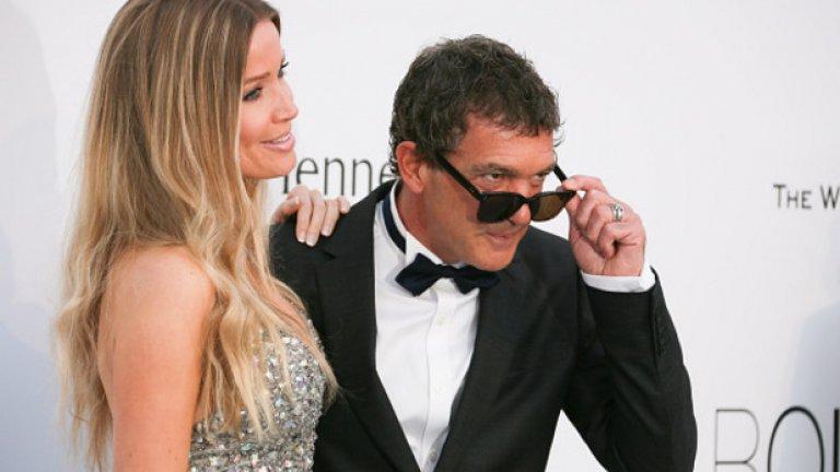 Май, 2015-та - Бандерас вече не ходи никъде без новата си половинка: Никол Кимпел
