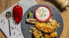 Вижте в галерията как да приготвите пиле с ориз по дунавски.