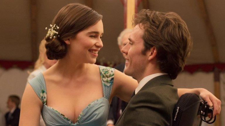"""""""Аз преди теб""""   Наглед сладникавата любовна история между лъчезарната Лу (Емилия Кларк) и парализирания заради инцидент богаташ Уил (Сам Клафлин) всъщност поставя изключително сериозния въпрос за смъртта по собствено желание. Филмът е екранизация по едноименния роман на Джоджо Мойс и още към средата ще усетите онова чувство, че в гърлото ви е заседнала буца, която трудно ще преглътнете."""