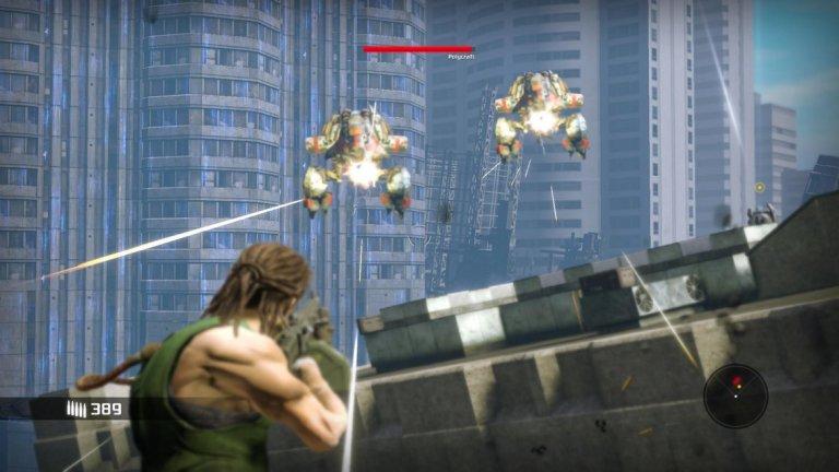 Bionic Commando  Пусната преди повече от две десетилетия, оригиналната Bionic Commando е една от най-обичаните аркадни игри на своето поколение. Тя разказваше историята на специален и генетично усъвършенстван боец, който използва своята модифицирана ръка, за да се придвижва и сражава. С тази игра Capcom поставиха началото на една продължителна и успешна серия, в която настоящата Bionic Commando се явява шеста поред. Но май 6 не е щастливо число.  Във въпросната шеста игра интересните идеи не успяват да получат правилна реализация, историята заема важно място, но е слабо пресъздадена, а битките изобщо не са толкова динамични, колкото би трябвало. Но това не значи, че играта няма своята стойност. Въпреки че модифицираната ръка на главния герой е основният геймплей елемент, поне в началото ще трябва да се справяте без нея и да разчитате на стандартните бойни умения. С развитието на играта ще се натъкнете и на редица интересни моменти и предизвикателни битки с босове.