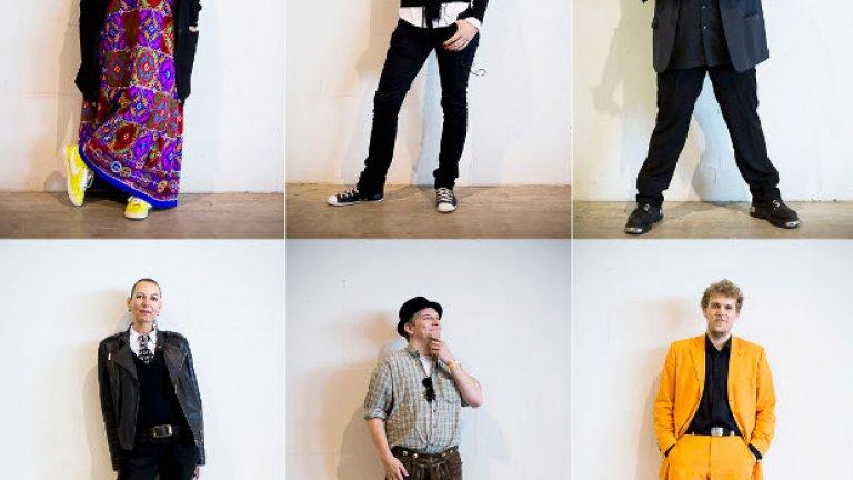 Членове на Пиратската партия позират за портрет на федералния конгрес на партията, след като спечелиха 4 места в регионалния парламент в Саарланд