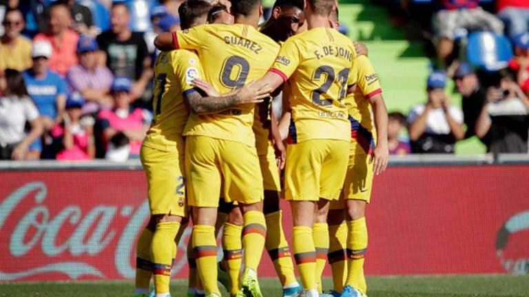 Жуниор Фирпо отбеляза първия си гол за Барселона