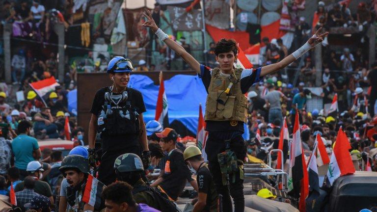 Протестите в Багдад продължават и службите за сигурност не са никак доволни от това.