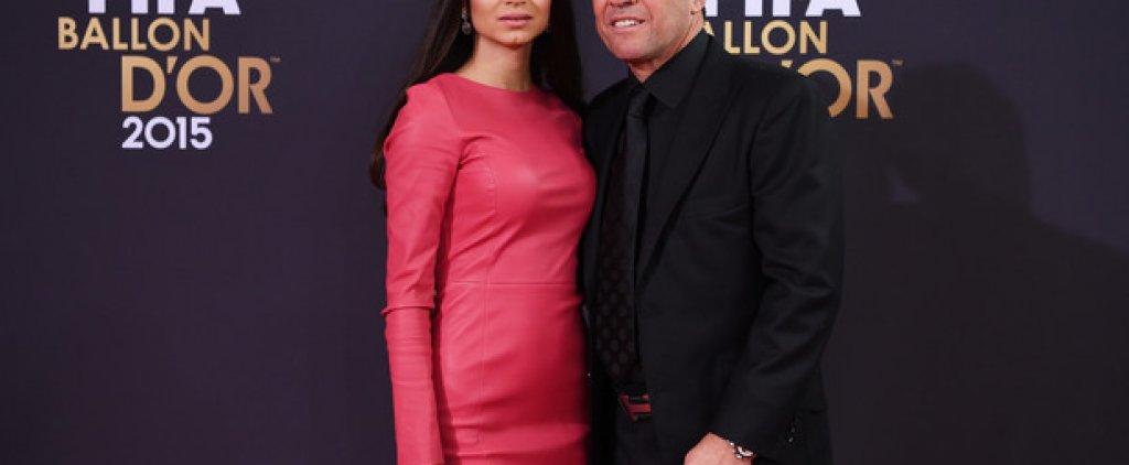 Лотар Матеус с приятелката си Анастасия Климко
