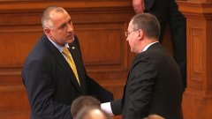Бойко Борисов и Сергей Станишев - те уж са политически врагове...