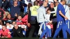 Марко Яни прекали с радостта точно пред Моуриньо и неговия щаб, а последвалото меле доведе до скандален край на дербито