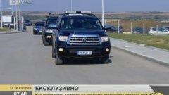 Зад волана на този джип е самият министър-председател Бойко Борисов