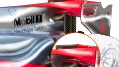 Спорното задно крило на McLaren MP4-25 скара тимовете в Бахрейн