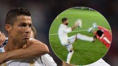 Роналдо вкара два гола за успеха на Реал в Дортмунд и невероятната му резултатност в Шампионската лига продължава. Но мачът ще бъде запомнен повече с други два момента - ето кои