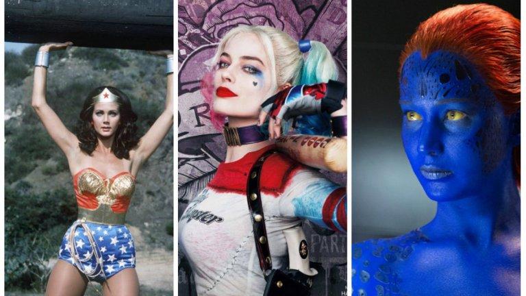 През последните години много от холивудските актриси са били в ролята на супергероини от комиксите - независимо дали в киното или по телевизията
