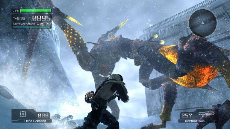Lost Planet  Шутърът от трето лице първоначално бе пуснат през 2006 г., а по-късно се превърна в трилогия и получи също версия за 3DS. Lost Planet се фокусира върху историята на E.D.N. III: измислена планета, завладяна от брутална и постоянна ледена епоха. След като Земята става необитаема поради война и замърсяване, човечеството планира да колонизира ледения свят по нареждане на NEVEC, мегакорпорация, която сега действа като глобално правителство. Откривайки, че планетата е обитавана от инсектоиден извънземен вид, наречен Акрид, човечеството губи войната и изпада в номадско съществуване като снежни пирати.  Lost Planet получи скромни оценки и доста критики към объркания сюжет и озвучаването на персонажите. Битките обаче бяха силна точка и включваха управление на механизирани костюми, известни като Vital Suits. Костюмите всъщност са много забавни за управление, тъй като могат да използват тежко въоръжение, а Lost Planet представи наистина интересен вид враг в лицето на насекомоподобните извънземни.