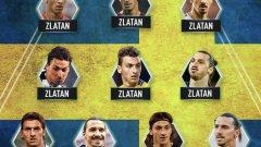 Отборът е в схема 4-3-3 и носи името ФК Златан.