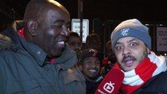 Роби Лайл (вляво) с един от популярните коментатори от AFTV, известен като Труупз