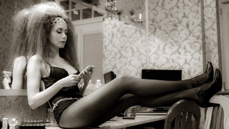 Илиана Коджабашева в гримьорната, снимка: Христо Дачев