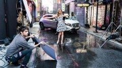 Джорджия Мей Джагър и Mercedes GLA в Ню Йорк