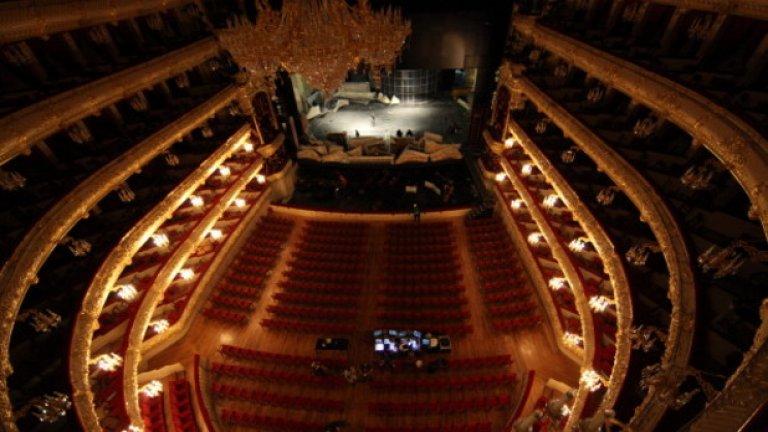 Концертната зала на Болшой театър след реставрацията