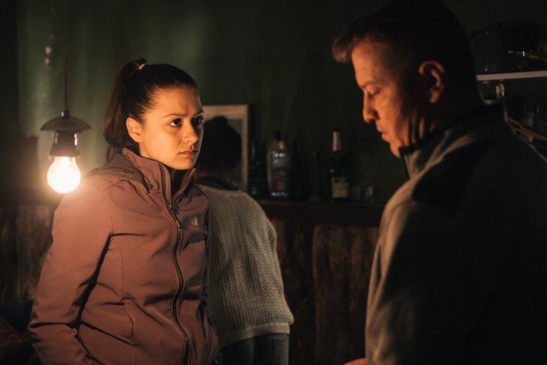 """Стефани и Валери Йорданов на снимачната площадка на """"Пипнах те"""""""