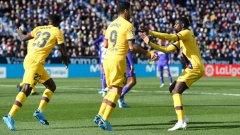 Суарес отбеляза първия гол за Барса.