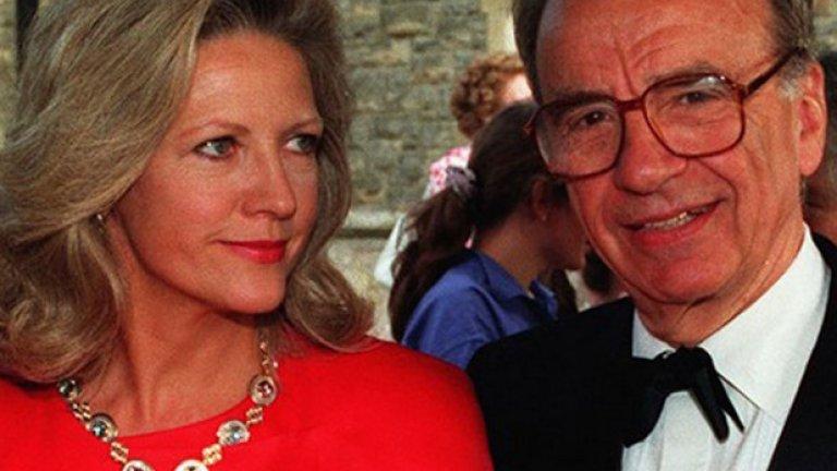 Рупърт Мърдок и Ана Според The Hollywood Reporter втората съпруга на Рупърт Мърдок - Ана, успява да изкопчи 100 милиона долара от него по време на бракоразводното им дело през 1999 година. Това противоречи на слуховете, които твърдят, че сумата е била 1.7 млрд.