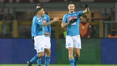 """Хамшик се изравни с Марадона, а Наполи отново е на първо място в Серия """"А"""""""