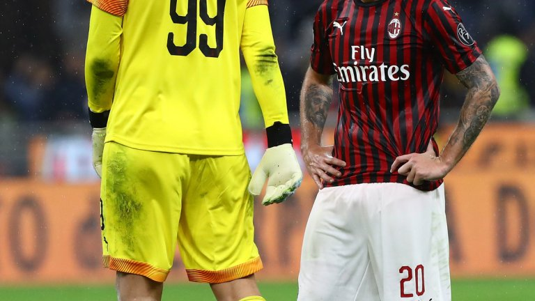 Милан изживя поредно разочарование, след като докосваше победата срещу Лече
