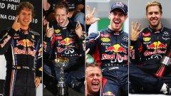 Себастиан Фетел вече има четири титли и скоро ще установи рекорд по най-много подобрени рекорди във Формула 1