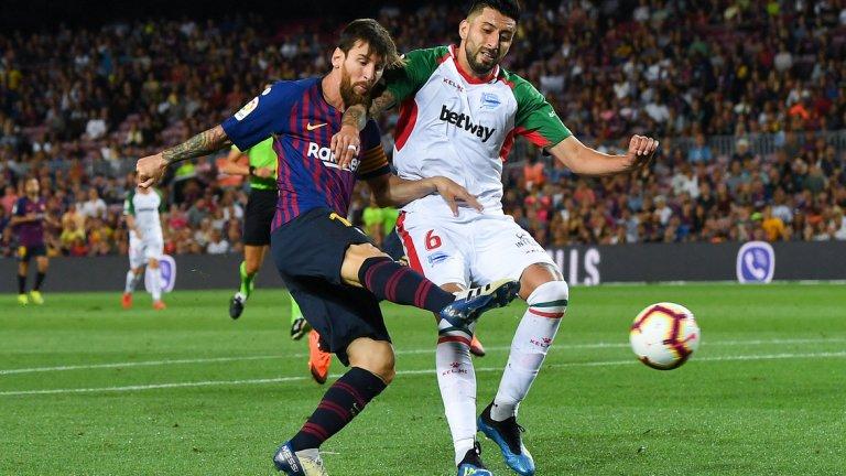 Меси отново поведе Барса и успокои отбора с откриването на резултата през второто полувреме, а в последната минута се разписа още веднъж
