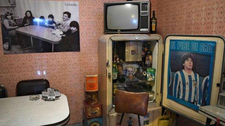 Апартаментът, който е даден на Марадона след като подписва с Архентинос, днес е превърнат в музей