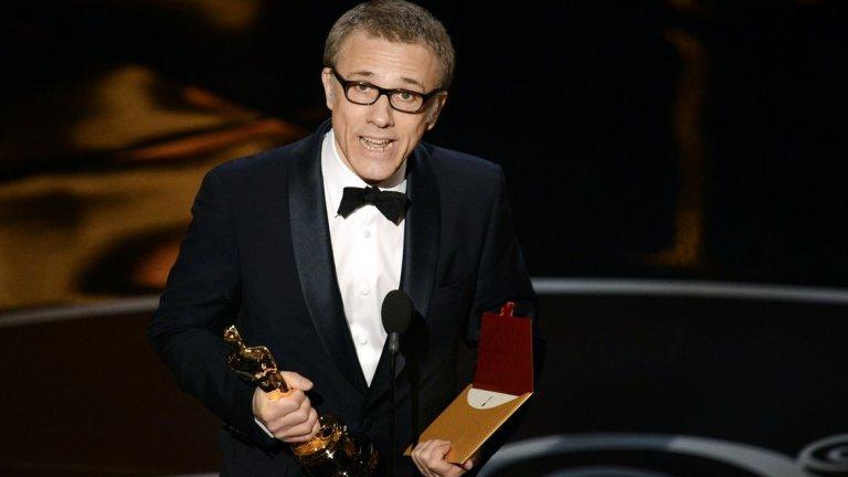 """Дъжд от награди  Двете роли във филмите на Тарантино разкриват на света кой е Кристоф Валц и на какво е способен. Носят му и признание. За изпълненията си в """"Гадни копилета"""" и """"Джанго без окови"""" той два пъти печели награди """"Оскар"""" за поддържаща роля, БАФТА и """"Златен глобус"""". Това го прави и единственият актьор до момента, който е печелил """"Оскар"""" за роля във филма на Тарантино. За играта си в """"Гадни копилета"""" получава и наградата за най-добър актьор на фестивала в Кан и тази на Гилдията на актьорите в САЩ."""
