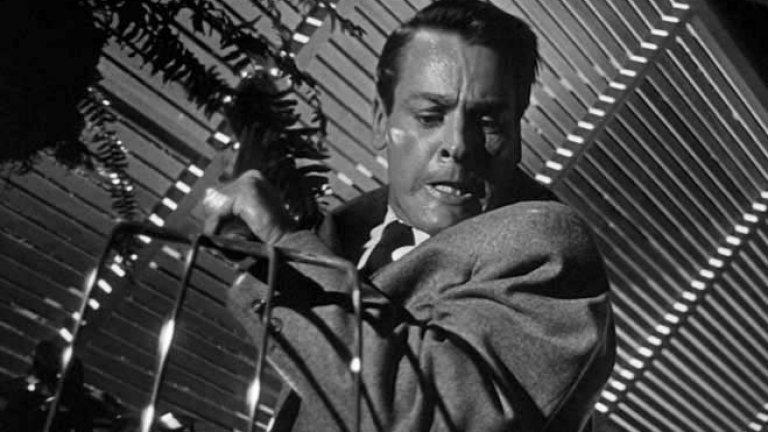 """""""Нашествието на крадци на тела"""" (Invasion of the Body Snatchers)Оценка: 92 от 100 Лентата има две версии - от 1956 г. и 1979 г., като критиците дават по-висока оценка на по-стария филм. И двата обаче са базирани на романа """"Крадци на тела"""" от Джак Фини. Историята е за здравен инспектор от Сан Франциско, който открива, че извънземни подменят хората с дубликати, получени от семена, подобни на растителните. Копията са визуално съвършени, но са лишени от емоции."""