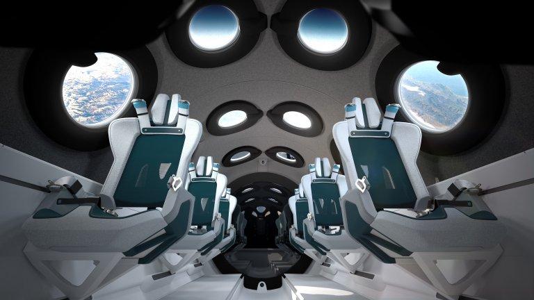 Лукс в космоса: Добре дошли на борда на SpaceShipTwo