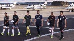 Юве, Челси, Милан, Реал, Юнайтед и Байерн представиха третите си екипи за сезон 2015/16