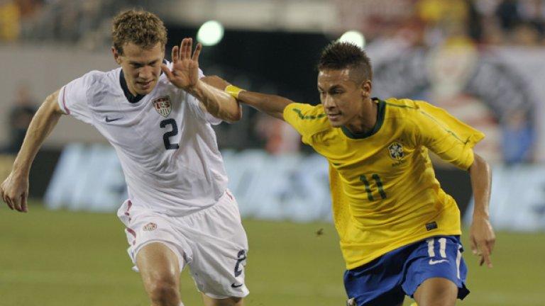 Хлапето вече има 5 мача и 3 гола с нациналната фланелка на Бразилия
