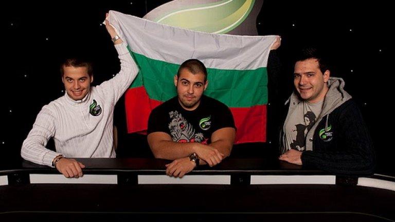 Тримата български финалисти на Unibet Open в Лондон - Йордан Митренцов, Симеон Найденов и Димитър Данчев