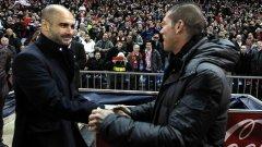 """Диего Симеоне и Пеп Гуардиола са се срещали само веднъж като треньори – Барселона победи Атлетико с 2:1 на """"Висенте Калдерон"""" на 26 февруари 2012 г. в последния сезон на Пеп на """"Камп Ноу""""."""